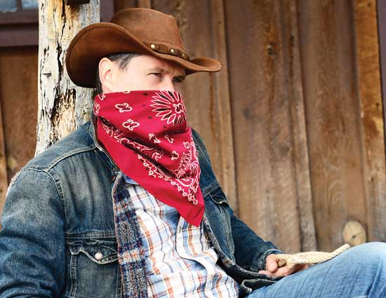 Cowboy with Dustbandit - The Bandanna Company