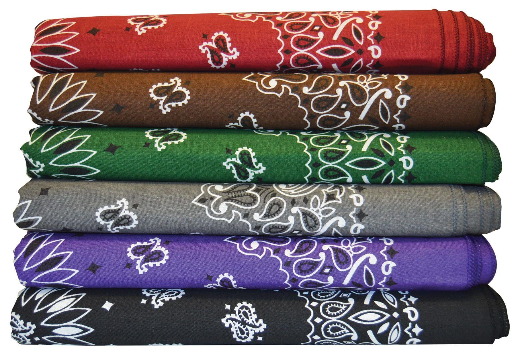 dark colored bandannas variety stacked