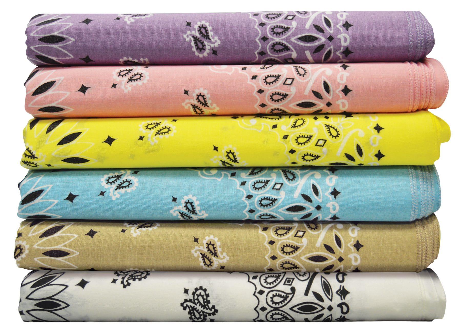 variety of bandannas stacked