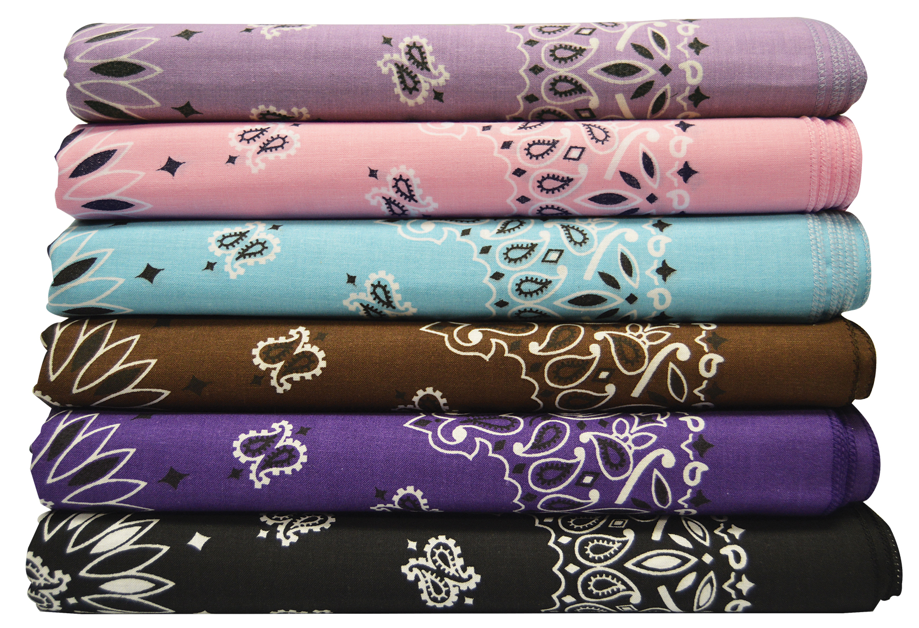 dark and light assortment of bandannas